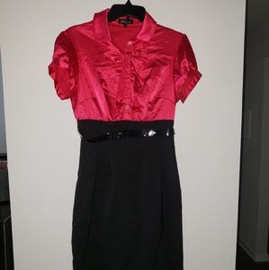 Roulette pink and black dress size 8